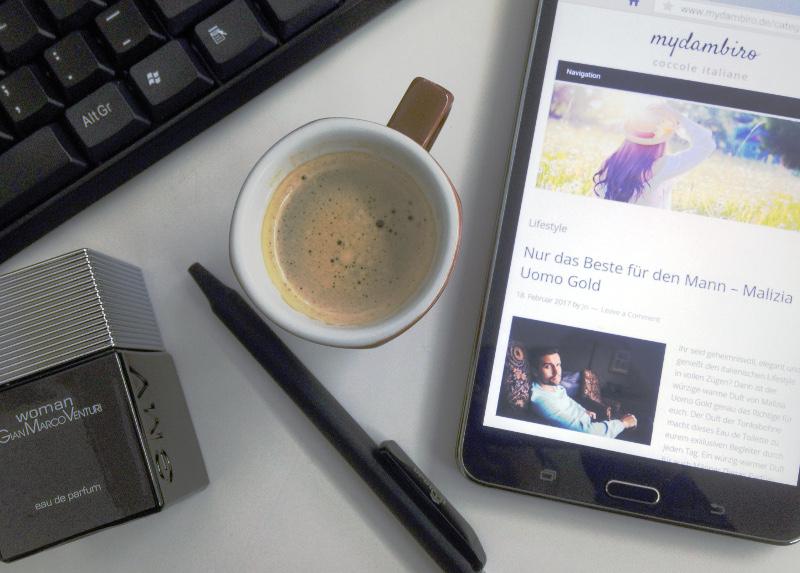 Espresso bei der Arbeit