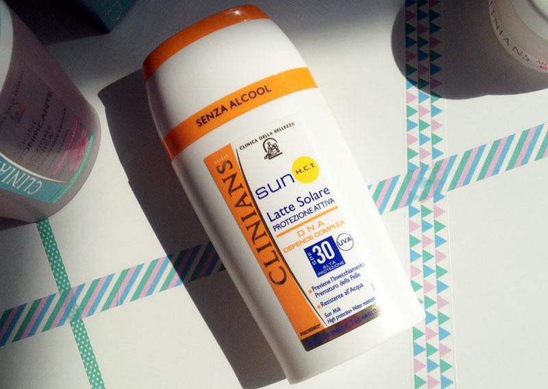 Sonnencreme zum Schutz der Haut und zur Faltenvorbeugung