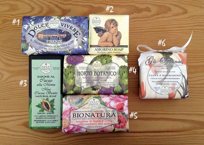 Vegane Seifen von Nesti Dante
