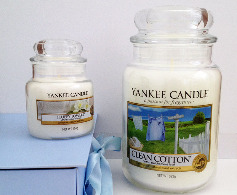 Yankee Candle Clean Cotton und Fluffy Towels