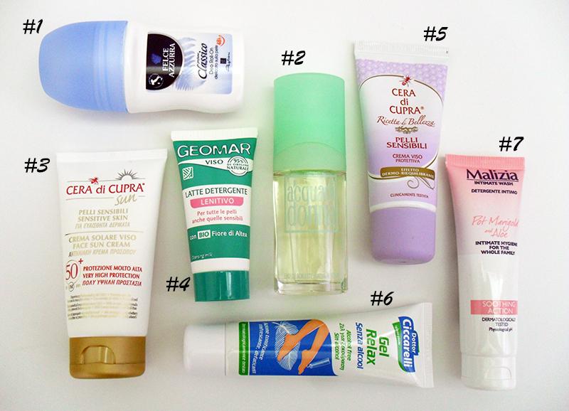 Packliste fürs Hotel - Körperpflegeprodukte in Reisegröße